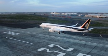 MRJ prototype arrives in Washington state for tests