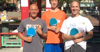 Ping pong tournament at Hing Hay