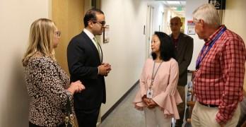 Lt. Gov. visits ID clinic