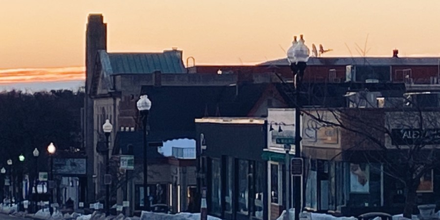 Ridgewood NJ Morning Sunrise movie theatre