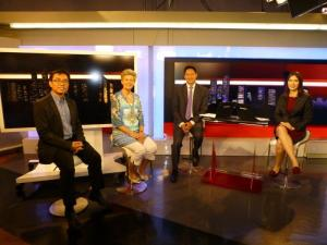 Dr Ng Wai Chong and Jane Verity, Founder and CEO, Dementia Care International, Channel NewsAsia