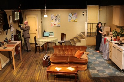 Sam Dinkowitz and Clara Hillier in Wait Until Dark, directed by Bobby Bermea. Photos by Jason Maniccia, copyright 2014.