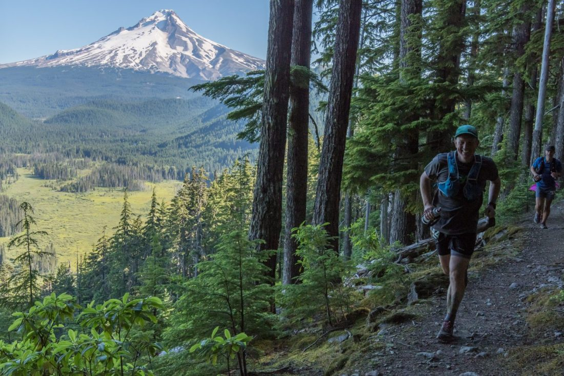 Shane Darden running Mt. Hood 50 in 2017
