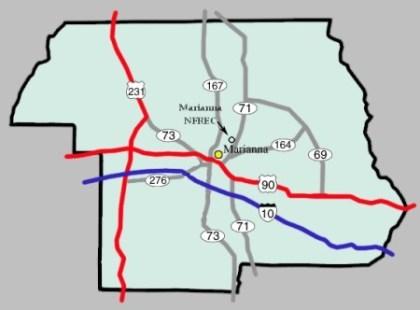 NFREC Map
