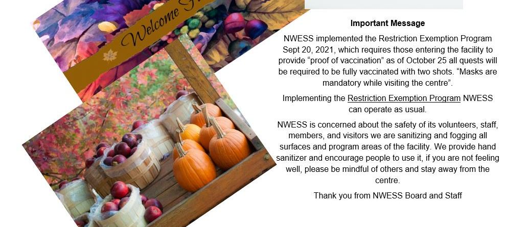 September 20, 2021 NWESS COVID Health Restrictions