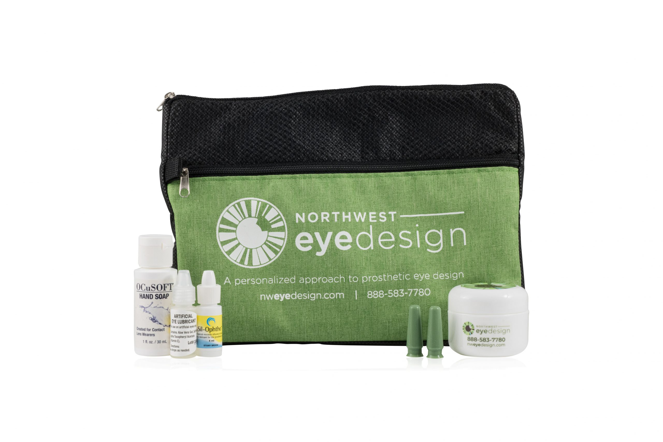 Image of Northwest Eye Design care kit for prosthetic eyes