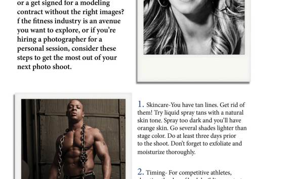NW Fitness Magazine 8 Steps to Jump-start Your Next Photo Shoot by April Greer