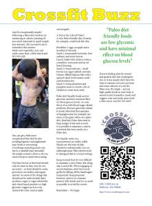 NW Fitness Magazine Cross Training Buzz, Rob Sax