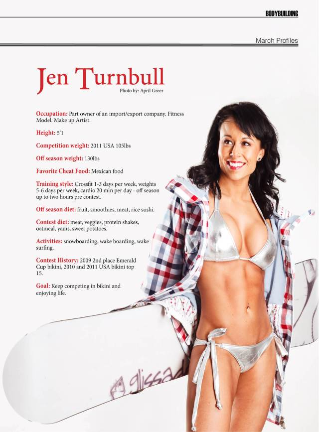 NW Fitness Magazine  March Profiles (2012)  Jen Turnbull
