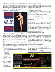 Jeremy Williams - NW Fitness Magazine