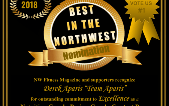 Derek Aparis - NW Fitness Magazines Best in the NW - Contest Prep Coach