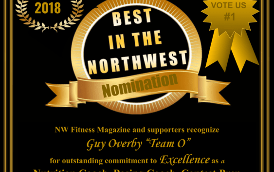 """Guy Overby """"Team O"""" NW Fitness Magazine, Best in the NW -Contest Prep Coach, Nutrition Coach, Posing Coach,"""