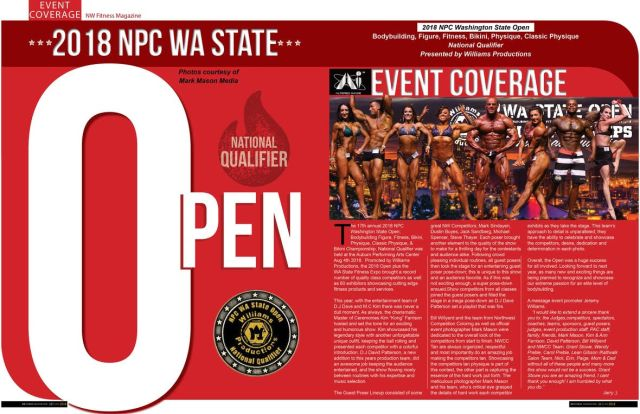 NW Fitness Mag Nov issue event coverage