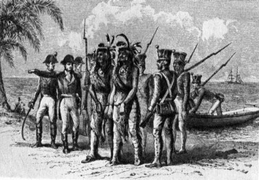 Two Seminole Chiefs Captured with Alexander Arbuthnot at St. Marks