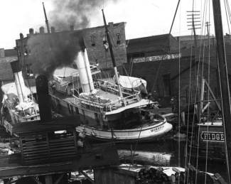 Monarch Steamboat after 1906 Pensacola hurricane
