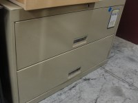2 Drawer Tan Lateral File Cabinet 8353 | New and Used ...