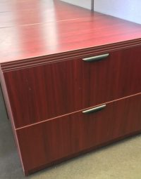 2 Drawer Dark Cherry Lateral File Cabinet  New and Used