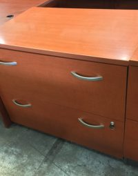 2 Drawer Cherry Lateral File Cabinet  New and Used Office