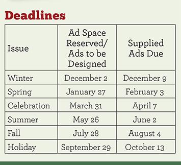 Advertising deadlines