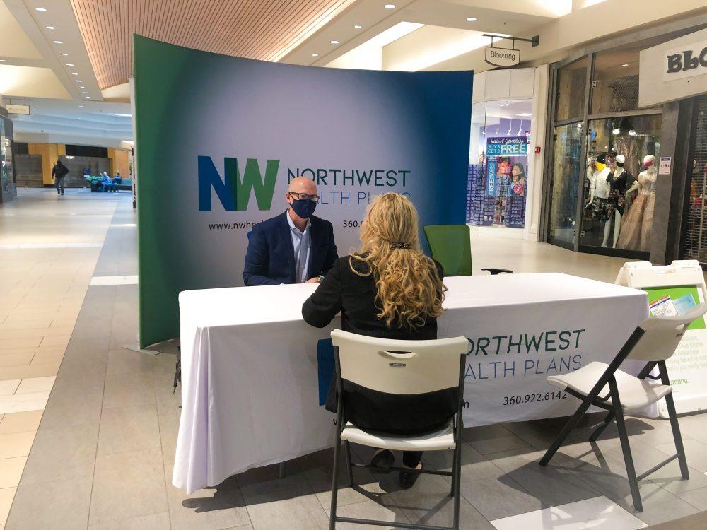Northwest Health Plans Bellis Fair Mall Kiosk COVID-19 Open Enrollment