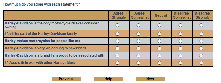 Typical Survey Question