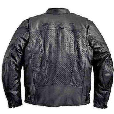 FXRG Perforated Leather Jacket - Back