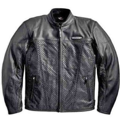 FXRG Perforated Leather Jacket - Front