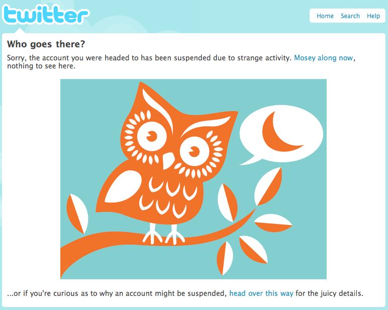 Twitter Suspension Notice
