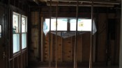 The front loving room had already been brought down to studs. Structural repairs were necessary.
