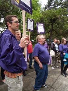Union rally at Ira Keller Park