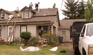 Roofers aid war veteran