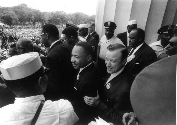 King and Reuther at March on Washington