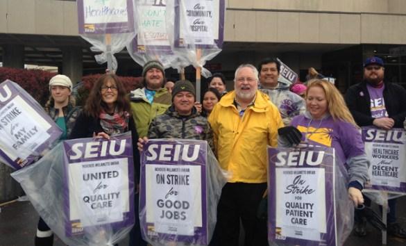 SEIU strike at McKenzie-Willamette