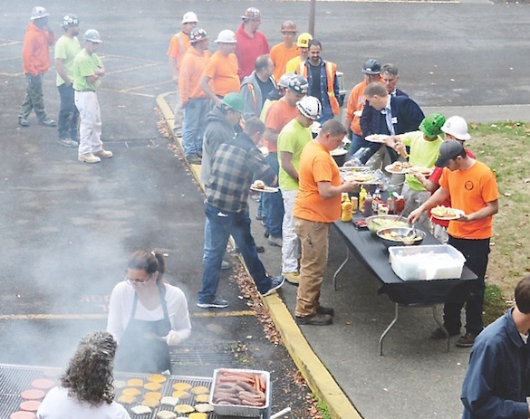 Housing Investment Trust hosts an appreciation lunch for the construction crew Oct. 20.