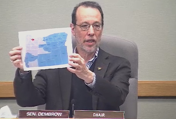State Senate Workforce Committee Chair unveils a map of three proposed regions for a proposed three-tier minimum wage.
