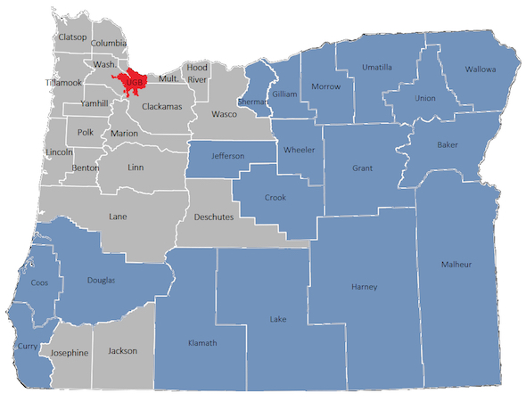 Oregon Wage Map