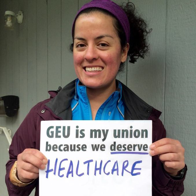 At Portland State University, graduate student assitants posted union-themed selfies in a social media campaign in support of their union drive.