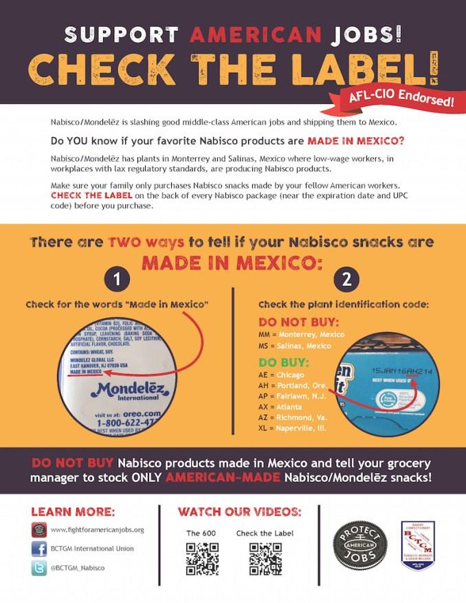 Check The Nabisco Label