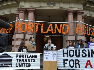 """""""I will be sending [landlords] a message … the days of treating tenants as human ATMs and the days of predicating their business model on their unfettered right to exploit us are numbered."""" —Portland Commissioner-elect Chloe Eudaly, at a"""