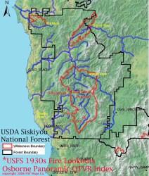 kalmiopsis wilderness fire chetco maps basin map osbornes oregon forest project 2006 index 1937 1934 service river qtvr nw orww