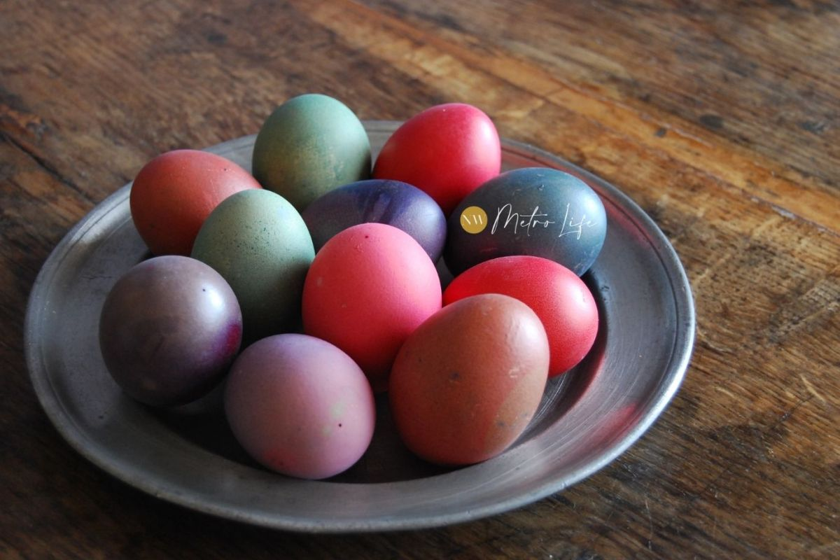 Plate of Easter Eggs