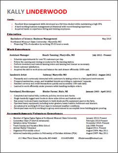 Colorful Résumés | Business | Northwest