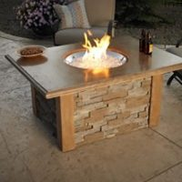 Outdoor Great Room Gas Fire Pit Table - Portland, OR - NW ...