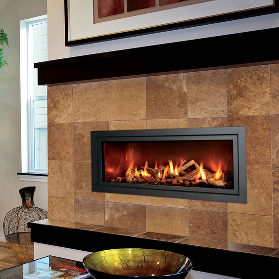 Mendota ML47 Modern Gas Linear Fireplace  NW Natural Appliance Center