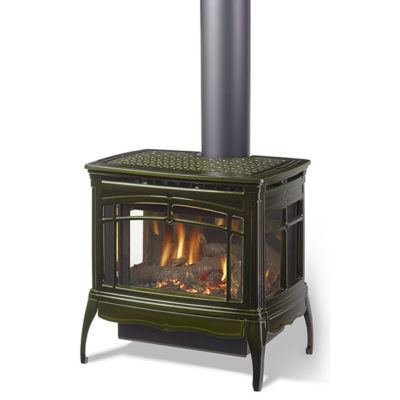 A direct vent gas insert is a natural gas or liquid propane fireplace that is installed into an existing masonry fireplace or factory built wood burning fireplace that uses the existing chimney as a chase to run the venting. Free Standing Gas Fireplace Stoves Portland Nw Natural Appliance