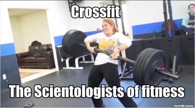 crossfit scientologist meme