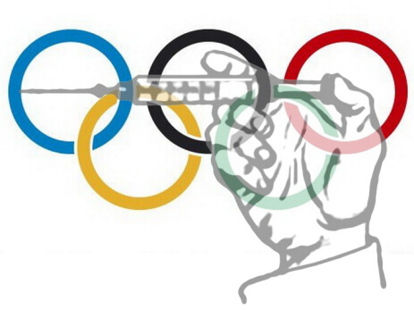olympic rings steroids syringe