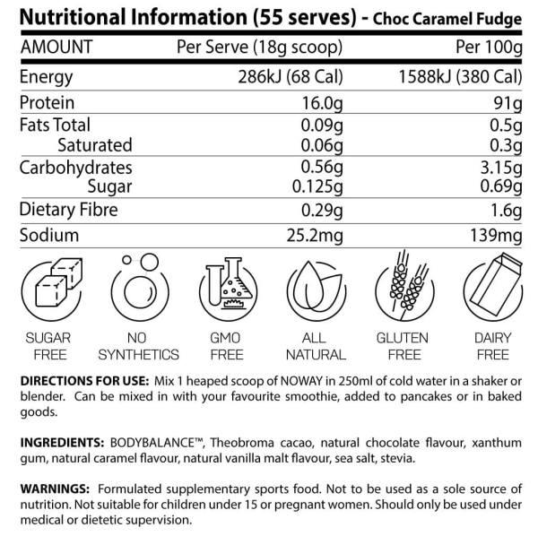atp science choc caramel nutrition
