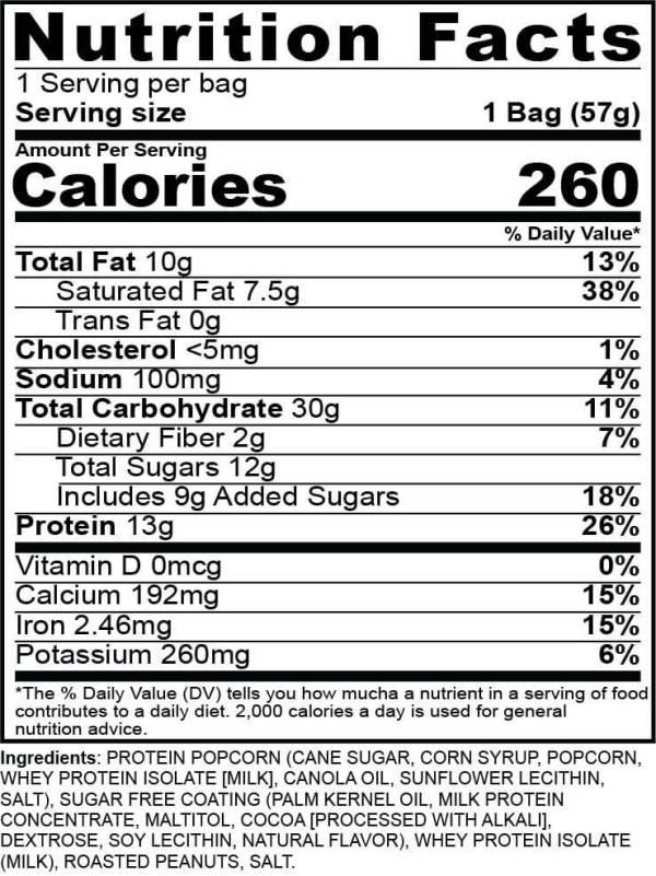gpop nutrition protein popcorn