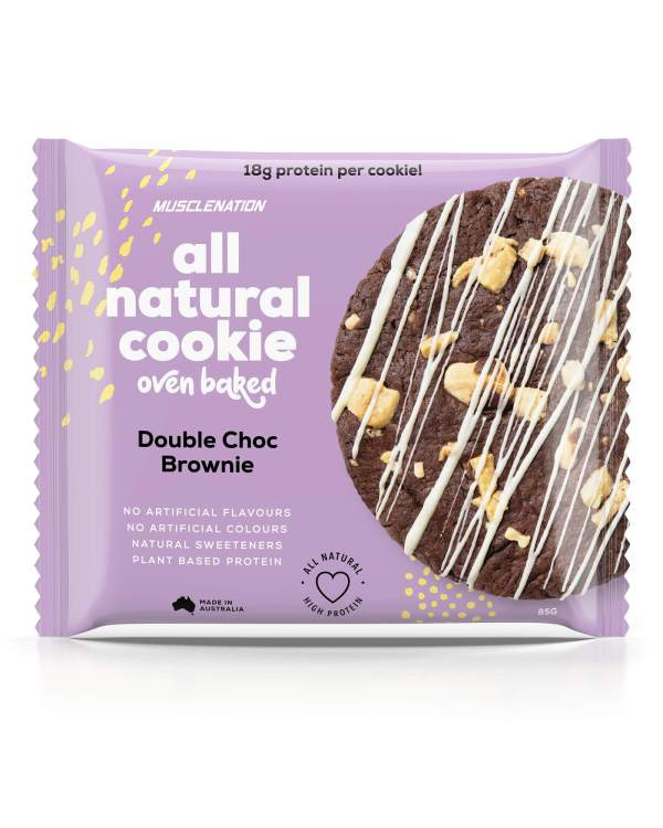 muscle nation protein cookie double choc